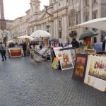 Straßenmaler auf den Piazza Navona