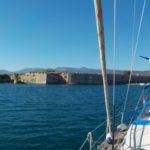 15_Hinter uns die Festung Agia Mavra